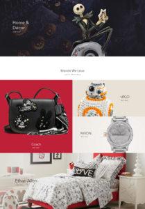 #shopDisney Online Store Pages Closeup