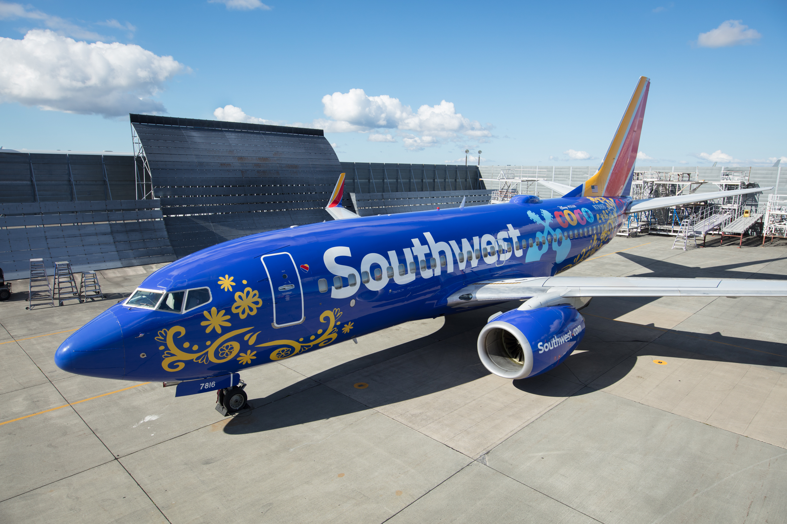 "Southwest Unveils ""Coco""- themed Boeing 737-700 Aircraft, Celebrating Disney/Pixar's All-New Adventure in High-Flying Style"