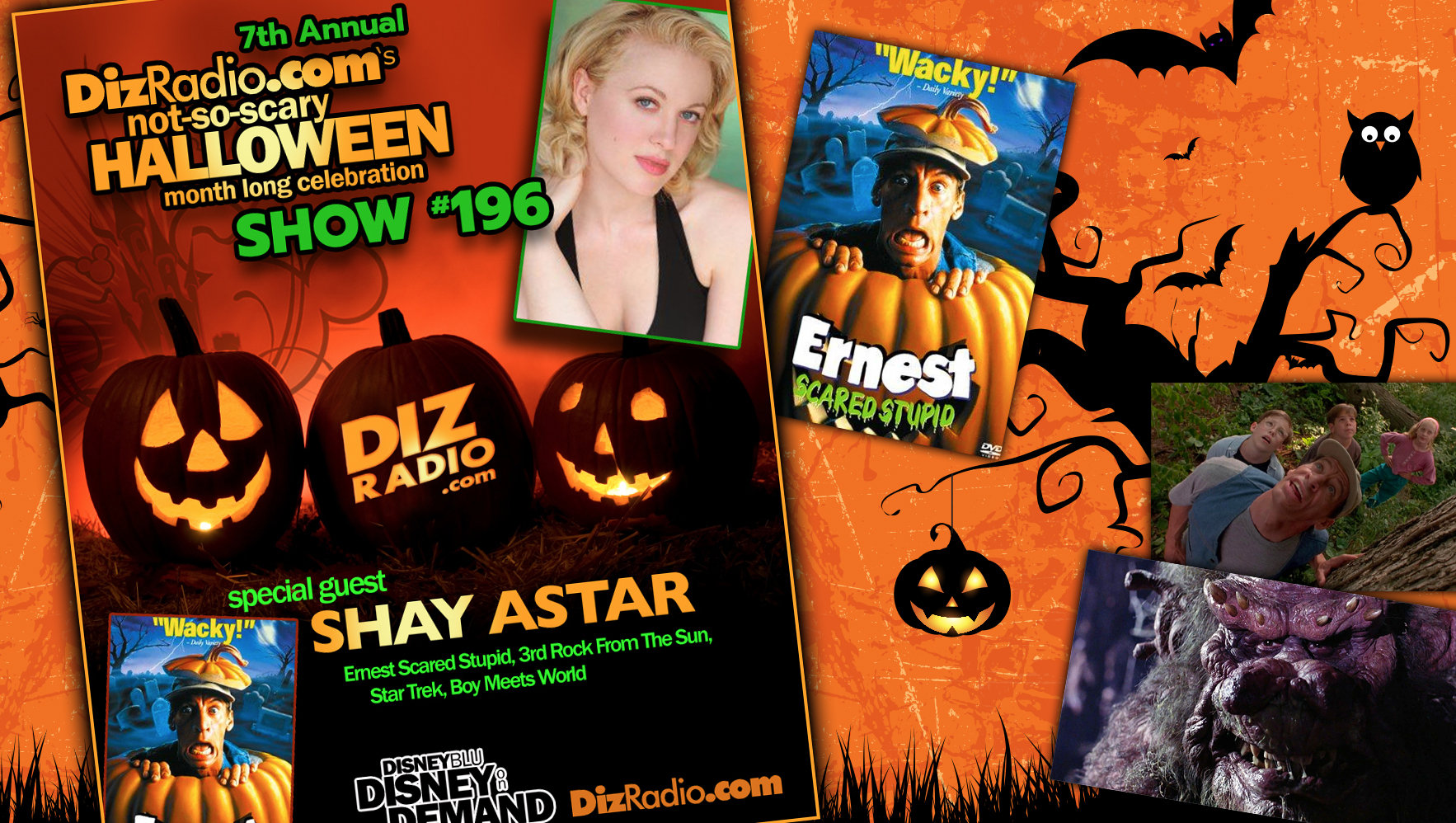 DisneyBlu's DizRadio Disney on Demand Podcast Show #196 w/ Guest SHAY ASTAR (Ernest Scared Stupid, 3rd Rock from the Sun, Star Trek, Boy Meets World, Musician, Songwriter)