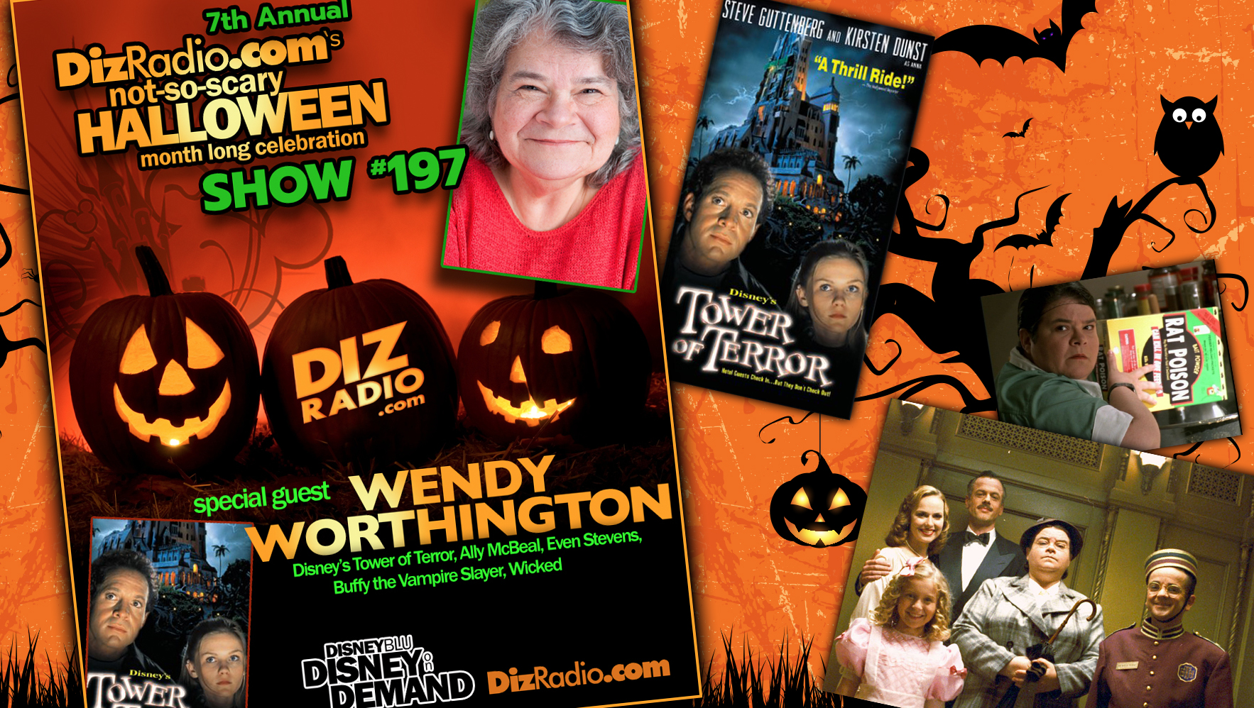 DisneyBlu's DizRadio Disney on Demand Podcast Show #197 w/ Special Guest WENDY WORTHINGTON (Disney's Tower of Terror, Buffy the Vampire Slayer, Even Stevens, Ally McBeal, Wicked)