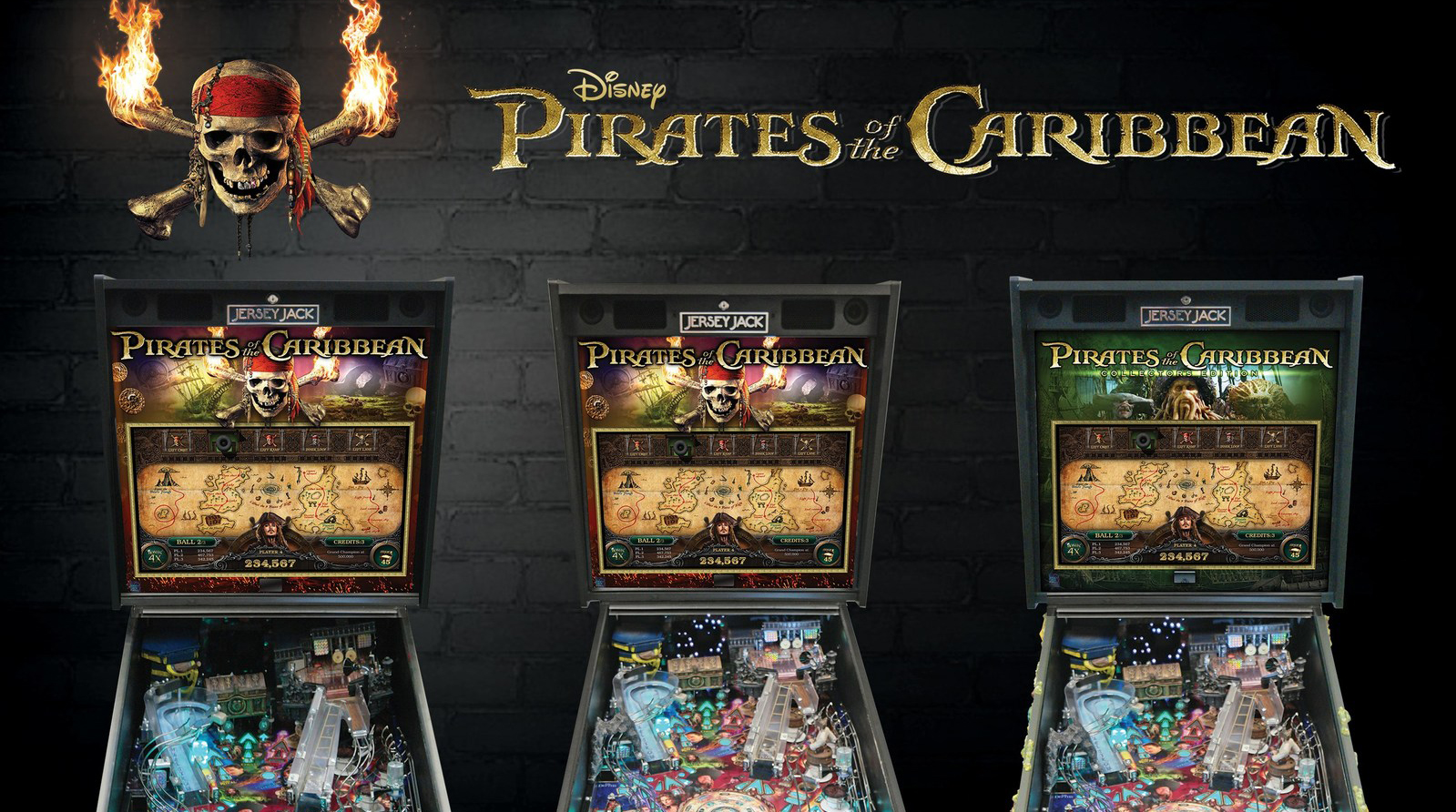 Jersey Jack Pinball Unveils a Variety of Disney's Pirates of the Caribbean Pinball