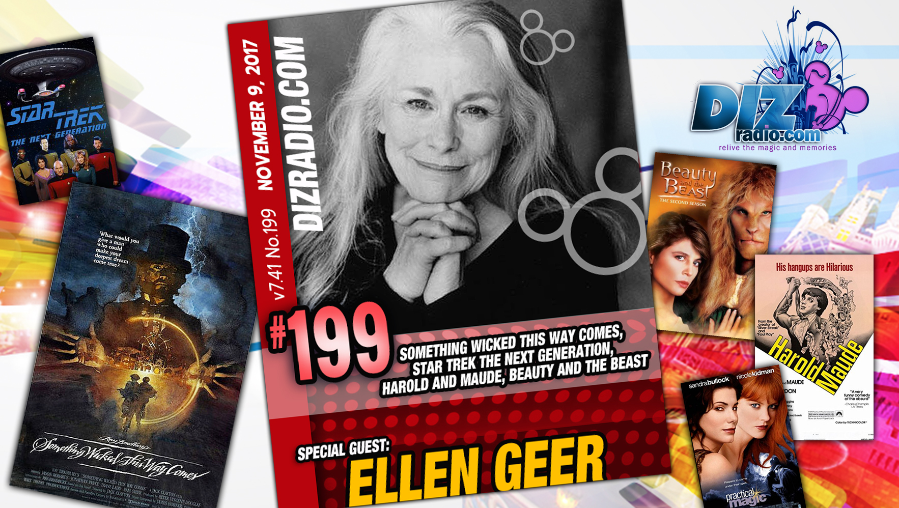 DisneyBlu's DizRadio Disney on Demand Show #199 w/ Guest ELLEN GEER (Something Wicked This Way Comes, Nancy Drew, Star Trek Next Generation, Harold and Maude, and more)