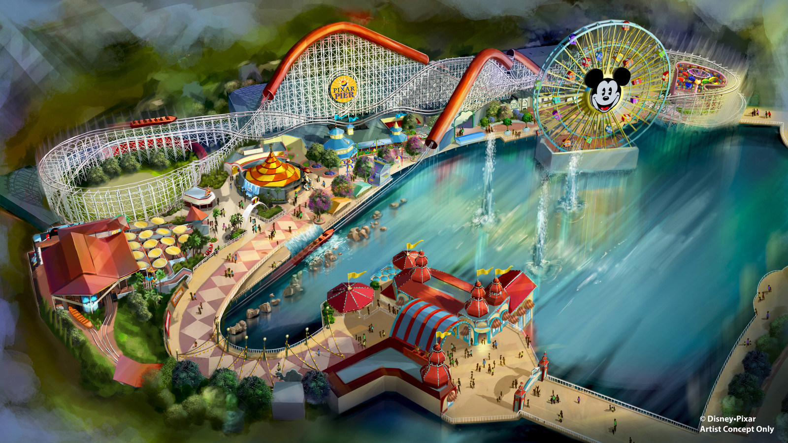 Pixar Pier Opens in Summer 2018 with New Incredicoaster, Inspired by 'The Incredibles,' at Disney California Adventure Park