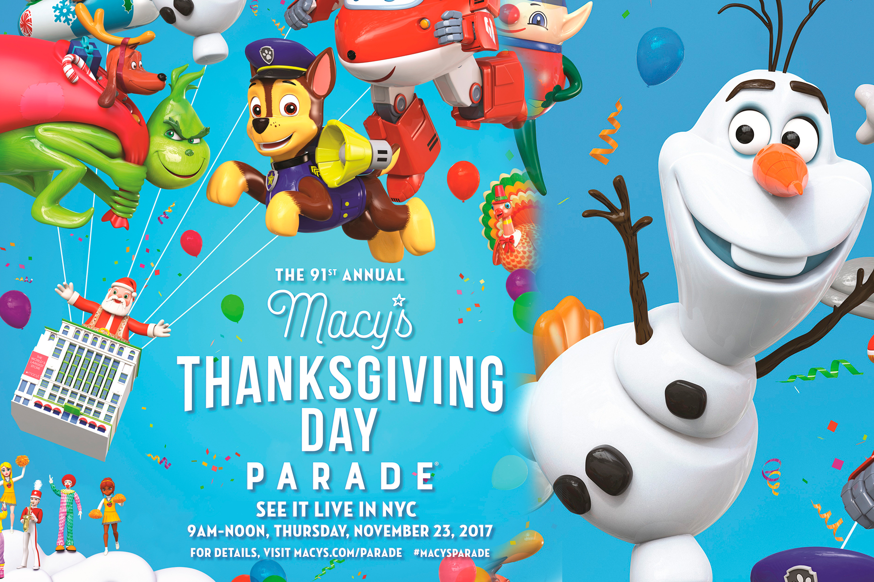 World-Renowned Macy's Thanksgiving Day Parade Kicks off the Holiday Season with Its 91st Spectacle of Wonder!