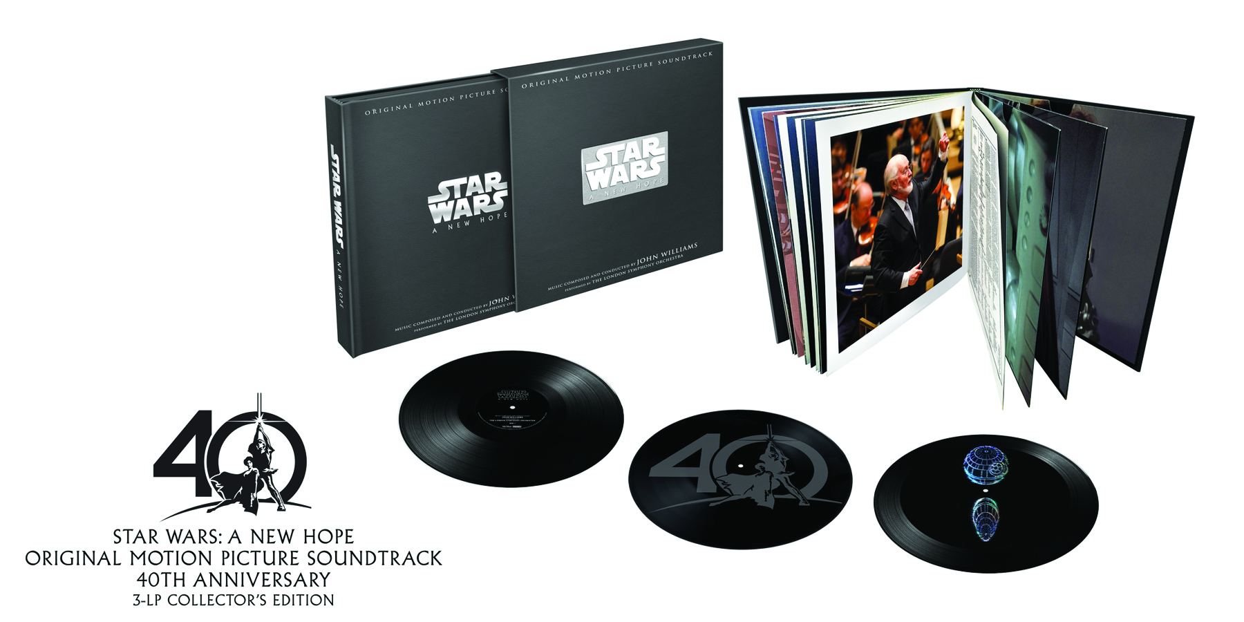 Star Wars: A New Hope 3-LP Vinyl Album Boxed Set Of Composer John Williams' Oscar-Winning Score To Be Released On December 1