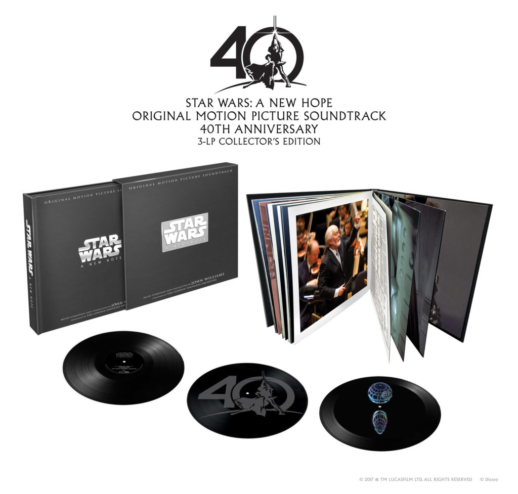 Star Wars: A New Hope Original Motion Picture Soundtrack 40th Anniversary 3-LP Collector's Edition