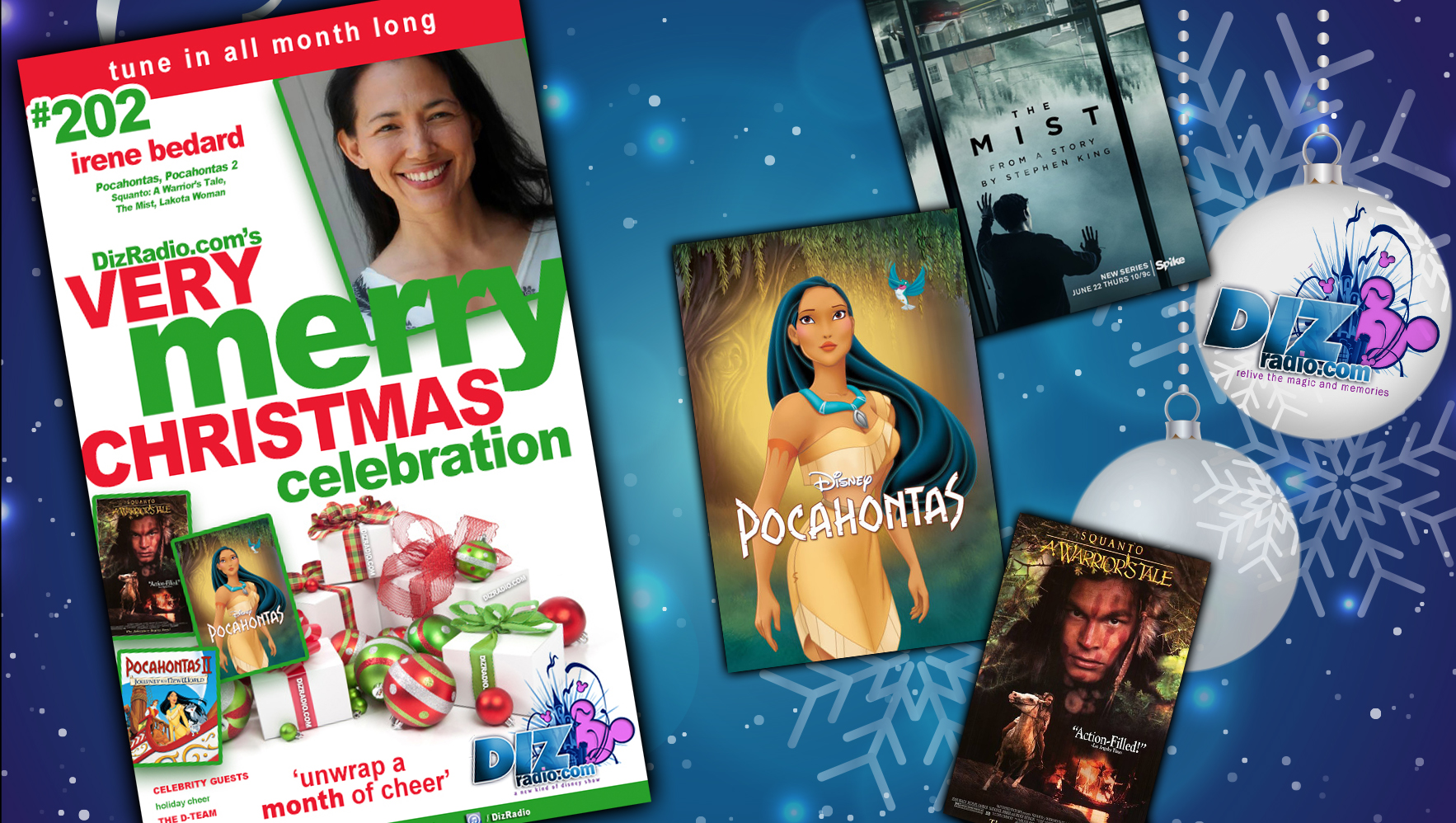 DisneyBlu's DizRadio Disney on Demand Podcast Show #202 w/ Special Guest IRENE BEDARD (Pocahontas, Pocahontas II, Squanto A Warrior's Tale, The Mist and more)