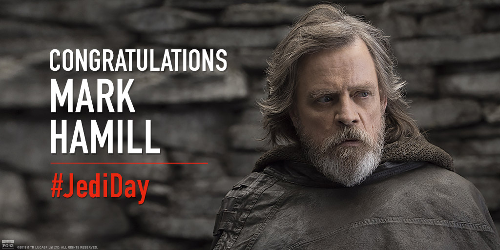 A new star rises for a @StarWars legend. Congrats to Mark Hamill on his Hollywood Walk of Fame achievement! #JediDay #TheLastJedi