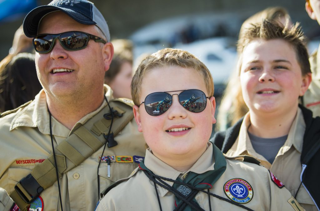 More than 2,000 students joined the 10th anniversary of Aviation Day.