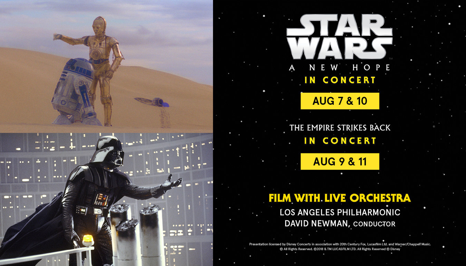 Disney Concerts' Star Wars Film Concert Series To Feature Iconic Scores Performed Live To Film