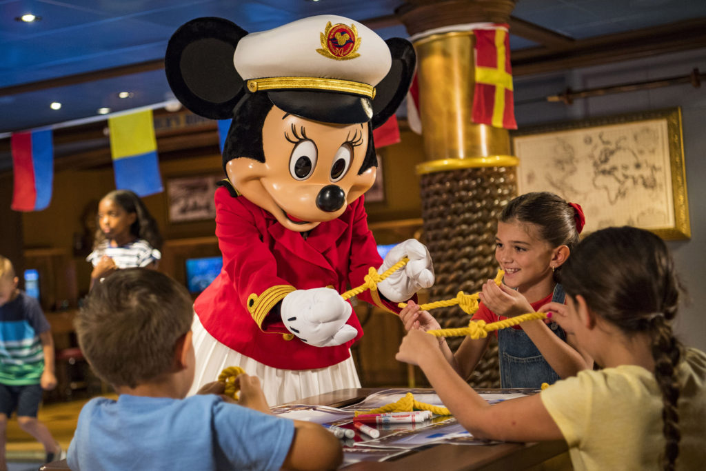 Onboard Disney Cruise Line ships later this year, Captain Minnie Mouse will appear in an all-new youth activity where young captain hopefuls practice STEM (science, technology, engineering and math) skills in a fun maritime-themed activity.
