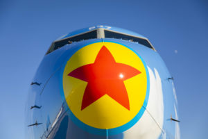 Alaska Airlines' newest painted Pixar-themed aircraft showcases Pixar Pier at Disney California Adventure Park