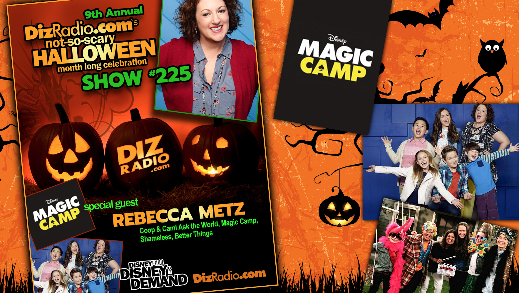 DisneyBlu's DizRadio Disney on Demand Show #225 w/ Guest REBECCA METZ (Coop & Cami Ask the World, Magic Camp on Disney Plus, Better Things, Shameless)
