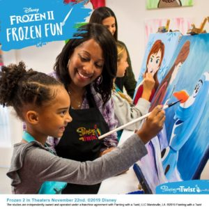 "Starting Oct. 22, Painting with a Twist studios nationwide will offer limited-edition ""Frozen 2"" painting events at participating locations."