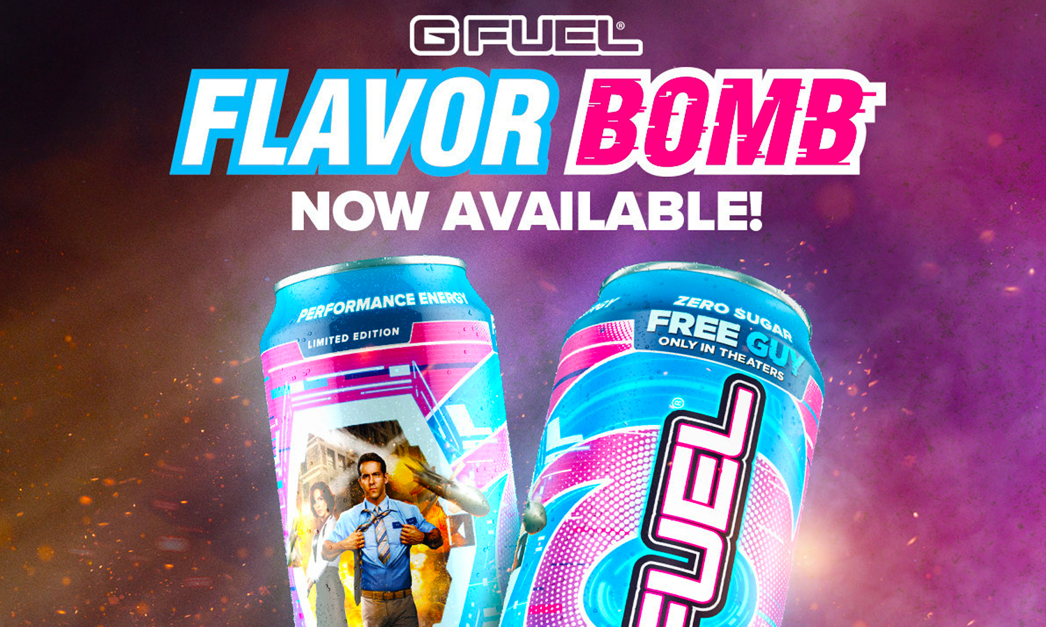 """G FUEL And Disney Drop A """"Flavor Bomb"""" Energy Drink -- In Celebration Of The New Movie 'Free Guy'"""