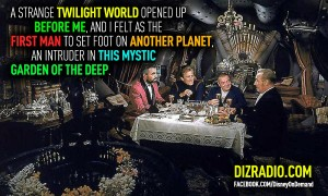 """""""A strange twilight world opened up before me, and I felt as the first man to set foot on another planet, an intruder in this mystic garden of the deep."""" http://www.DizRadio.com"""