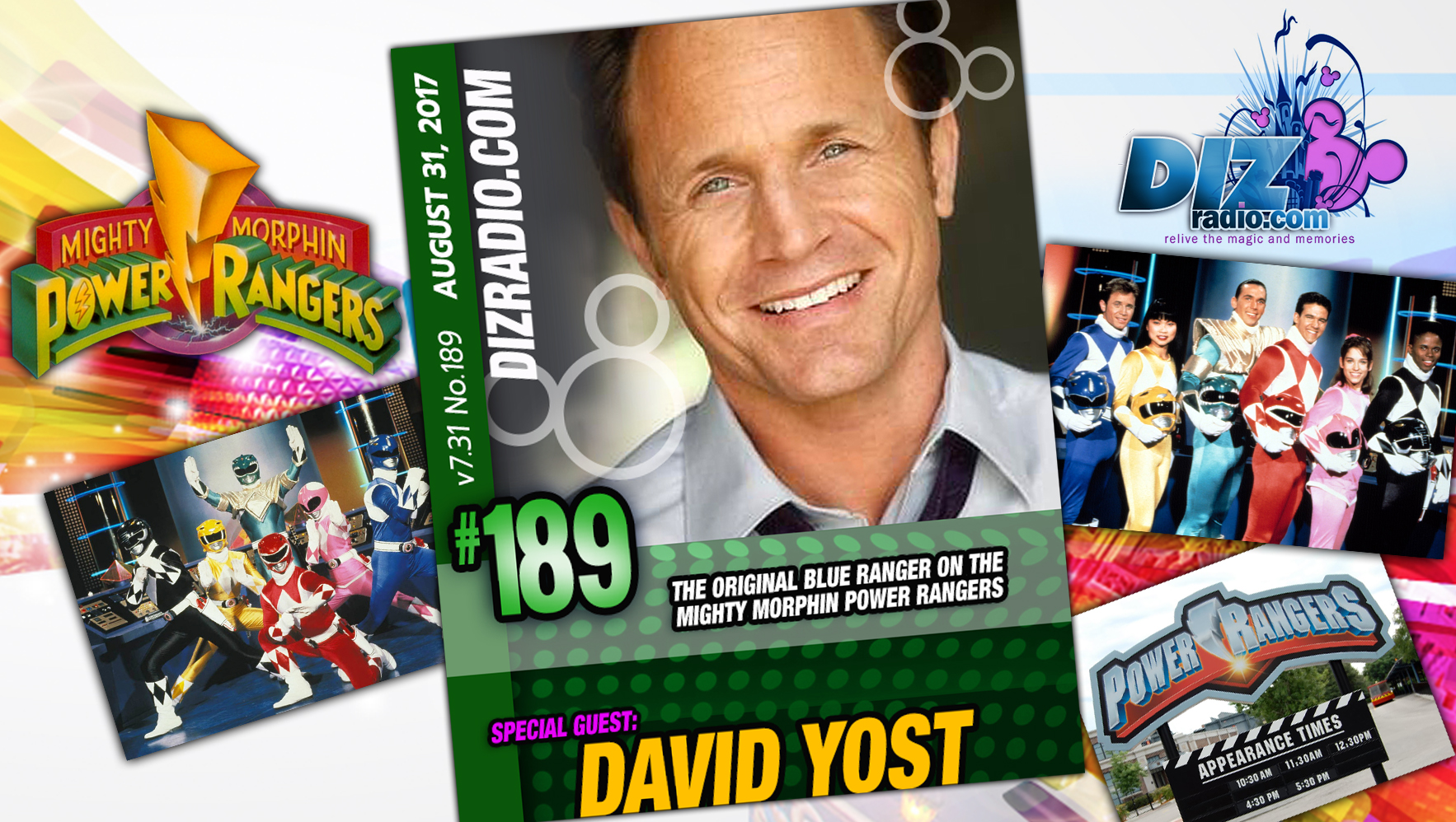 DisneyBlu's DizRadio Disney on Demand Podcast Show #189 w/ Guest DAVID YOST (The Original Blue Range in Mighty Morphin Power Rangers, Actor, Producer)