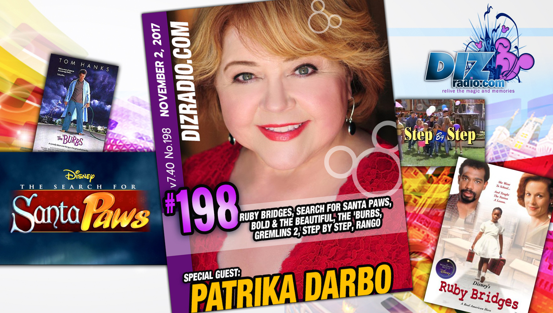 DisneyBlu's DizRadio Disney on Demand Podcast Show #198 w/ Guest PATRIKA DARBO (Disney's Ruby Bridges, Step By Step, The Search for Santa Paws, The Burbs, Bold and the Beautiful, Spaced Invaders, Gremlins 2 and more)
