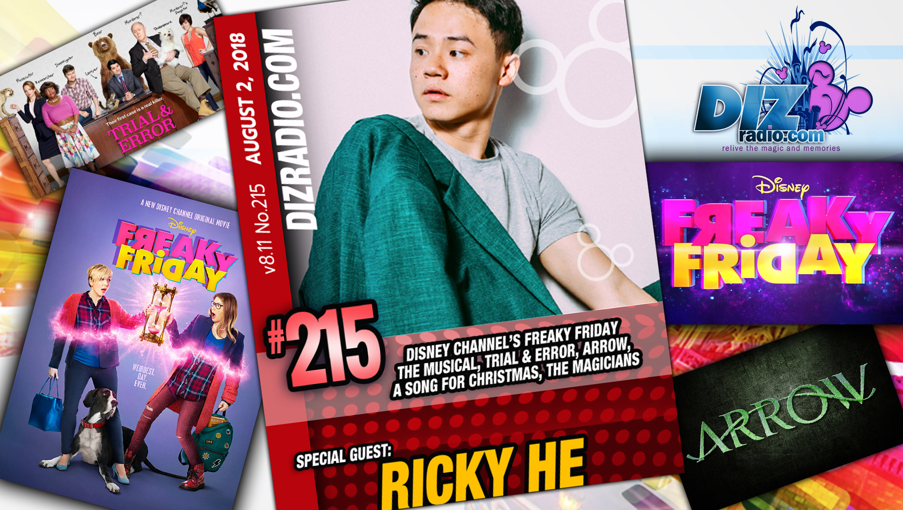 DisneyBlu's DizRadio Disney on Demand Show #215 w/ Special Guest RICKY HE (Disney Channel's Freaky Friday the Musical, Arrow, Trial & Error and more)