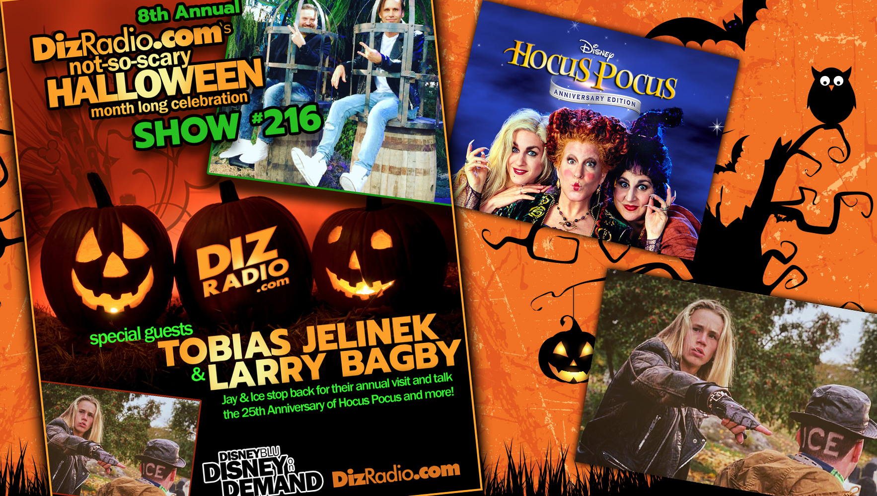 DisneyBlu's DizRadio Disney on Demand Show #216 w/ Special Guests TOBIAS JELINEK & LARRY BAGBY (Jay and Ice from Disney's Hocus Pocus)