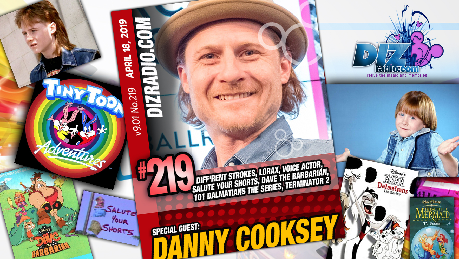 DANNY COOKSEY (Different Strokes, Dukes of Hazard, T2, Salute Your Shorts, Dave the Barbarian, Kick Buttowski, 101 Dalmatian Series, Tiny Toon Adventures, Ren & Stimpy, Little Mermaid, Musician and more)