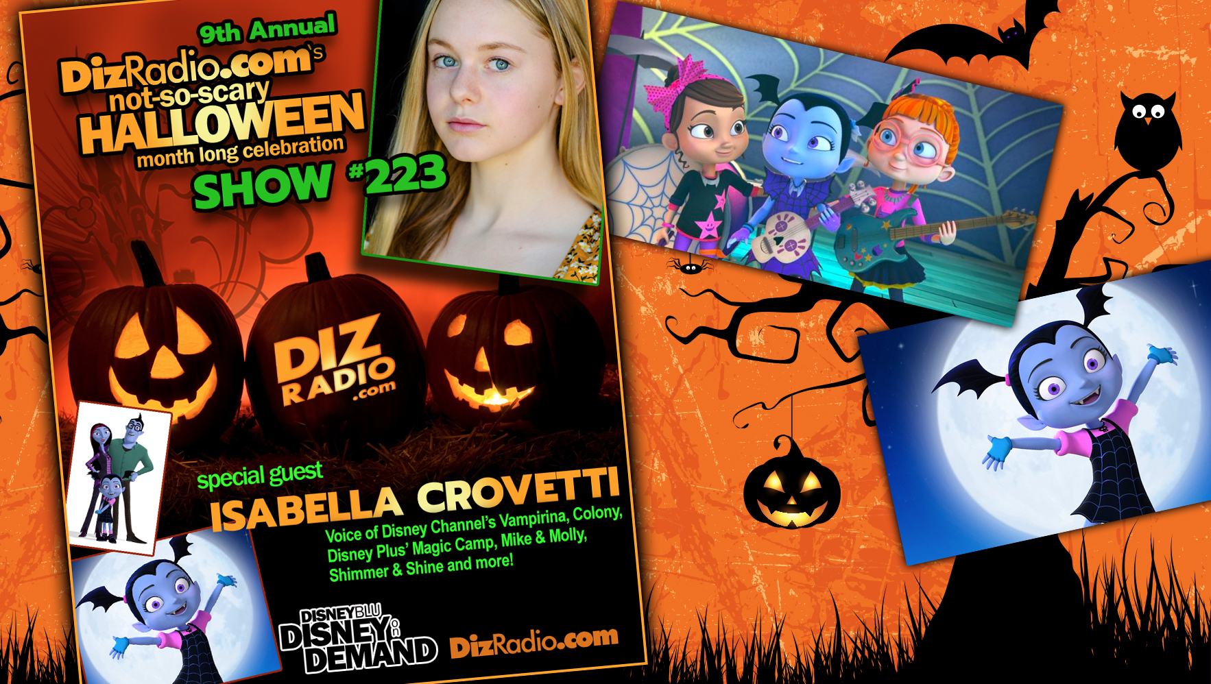 DisneyBlu's DizRadio Disney on Demand Show #223 w/ Special Guest ISABELLA CROVETTI (Voice of Disney Channel's Vampirina, Colony, Disney Plus' Magic Camp, Shimmer and Shine and more!)