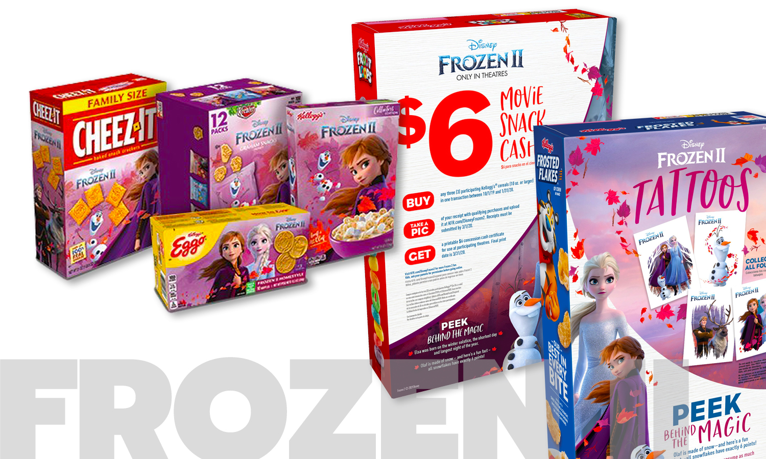 """Kellogg's Brings Magic To The Table With Disney's """"Frozen 2"""" Cereal, Eggo, Snacks And In-Pack Giveaways"""
