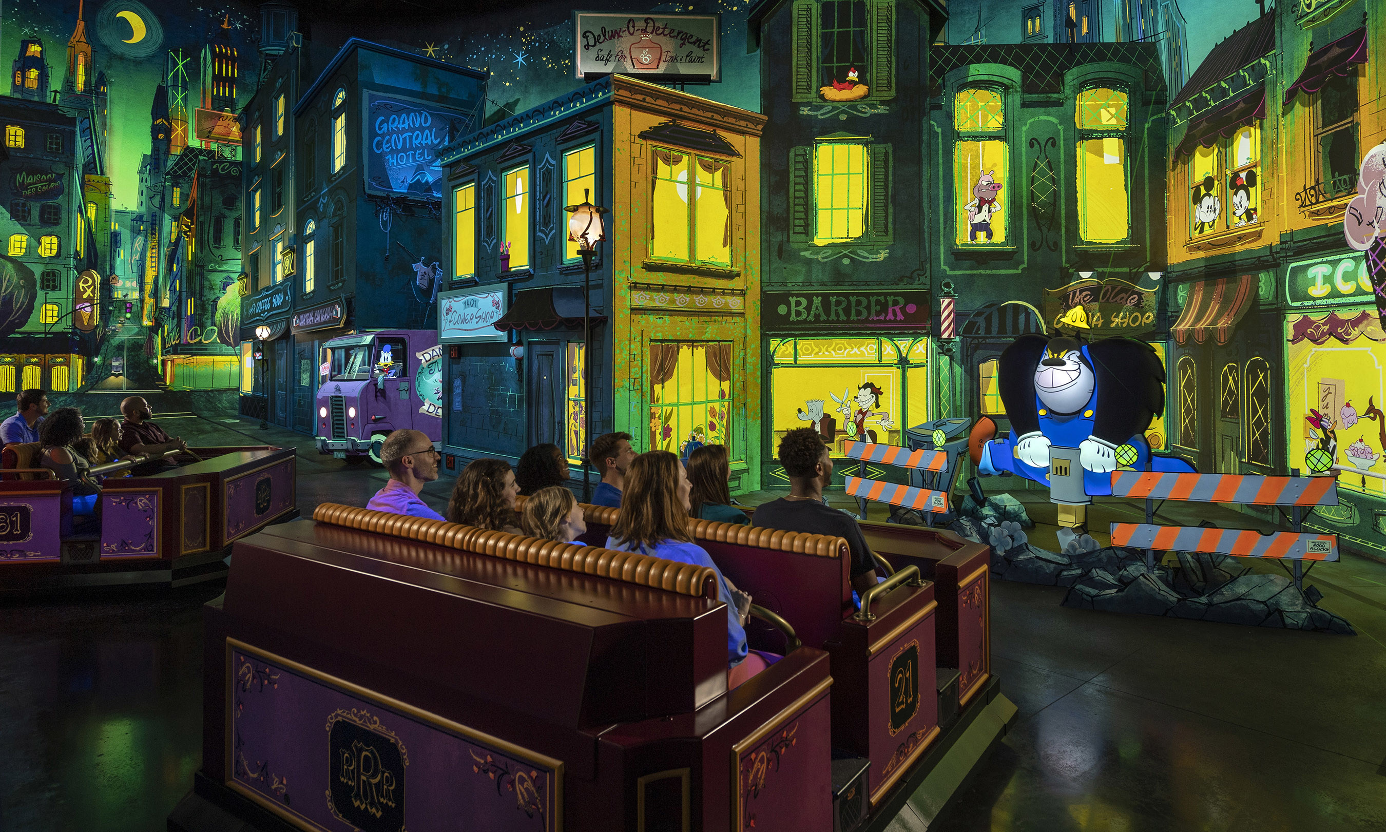 Panasonic Creates Immersive Cartoon World with First Ever Disney Ride-Through Attraction Featuring Mickey Mouse and Friends