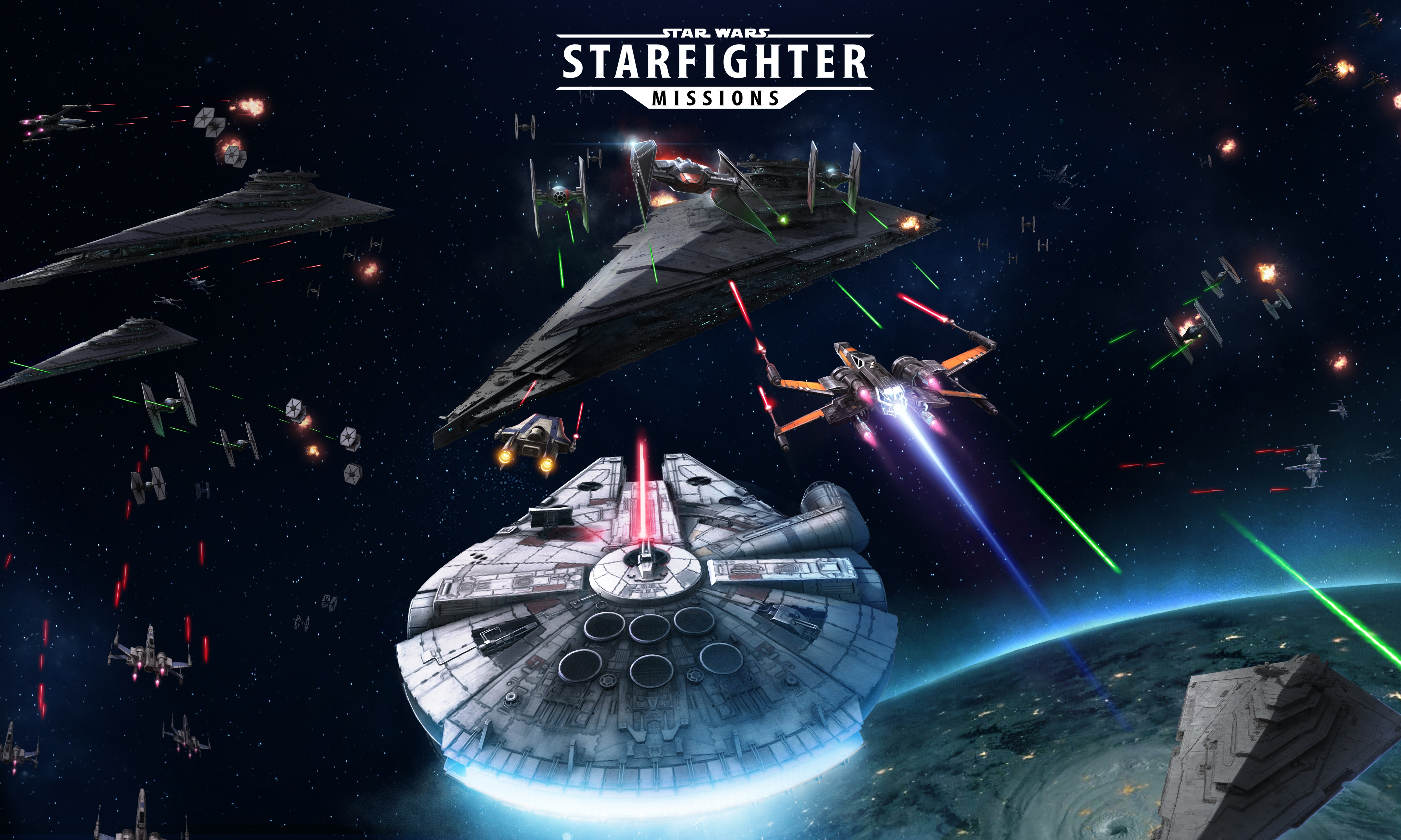 The first Star Wars mobile flight shooter allows players to collect, upgrade and pilot over 80 starfighters